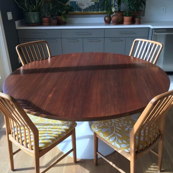 GRIT Furniture Wood Finishing Photos Reviews Interior - Tulip table wood top
