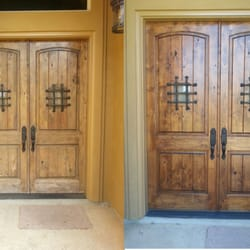 Photo of Dallas Door Refinishing - McKinney TX United States. Before and After & Dallas Door Refinishing - Refinishing Services - 6710 Virginia Pkwy ...