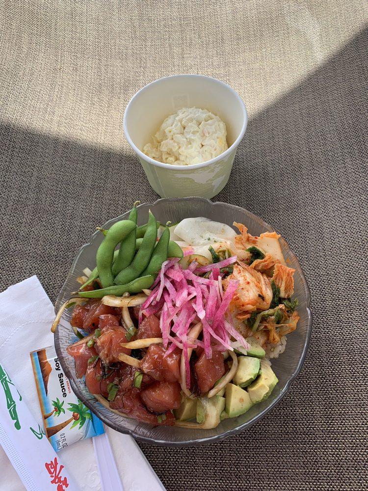 New Menu Who Dis Poke Bowl And Side Potato Mac Salad Yelp