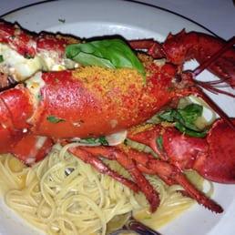 Lobster oreganata over linguini - Yelp