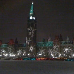photo of christmas lights across canada ottawa on canada