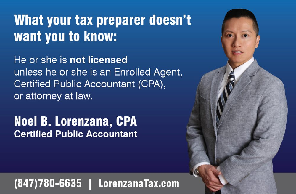 Noel B. Lorenzana, CPA: 9114 Waukegan Rd, Morton Grove, IL