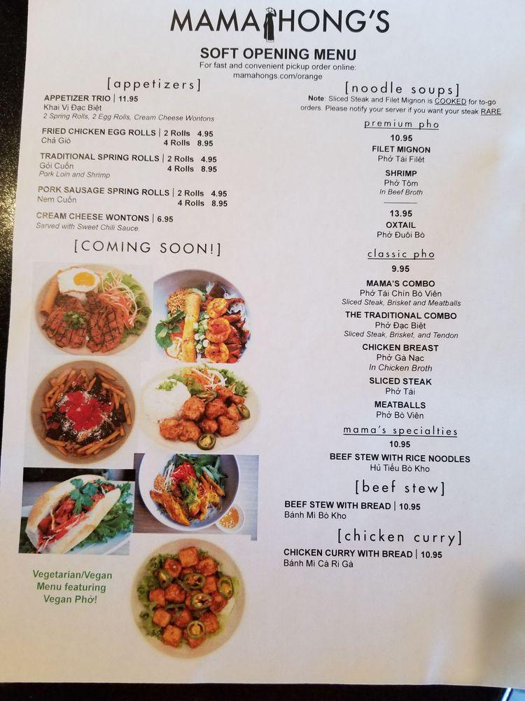 Mama Hong's Vietnamese Kitchen: 1628 E Lincoln Ave, Orange, CA