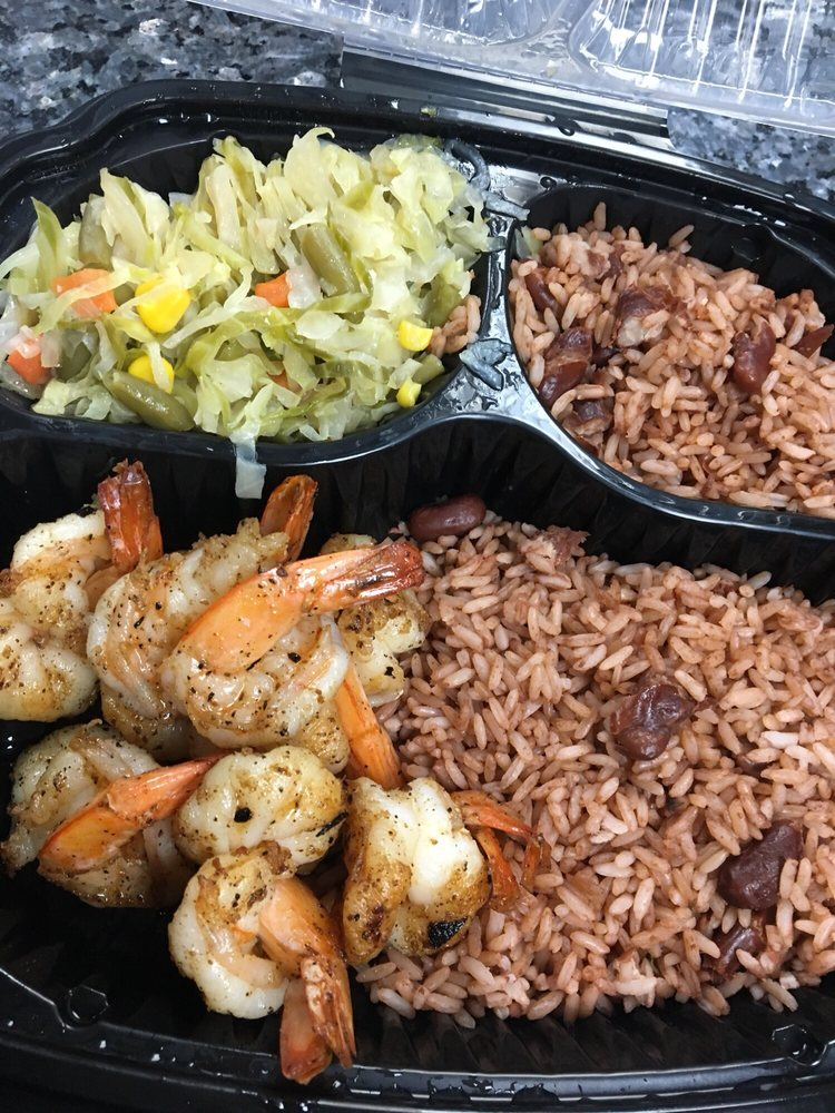Food from Blue Waters Caribbean & Seafood Grill