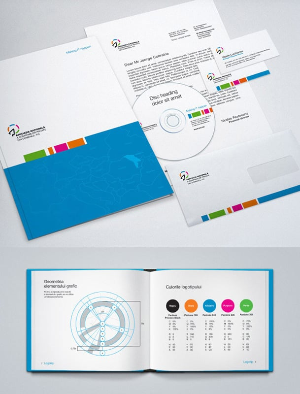 Brand Identity. Stationary design and brand books. Business card ...