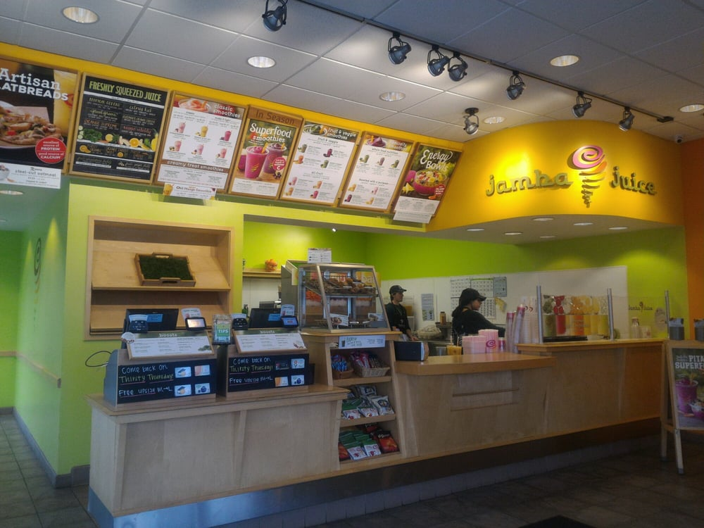 Jamba, Inc. and its wholly owned subsidiary Jamba Juice Company from an American restaurant retailer headquartered in Frisco, Texas and previously headquartered in Emeryville, California. The company has over locations operating in 26 U.S. states, as well as The Philippines, Mexico, Taiwan, South Korea, Thailand and the United Arab Emirates.