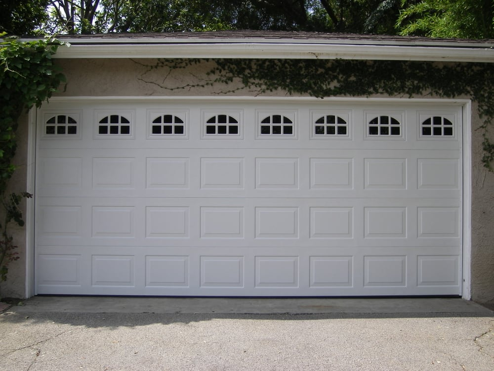 1 Piece Short Panels Garage Door With Windows Yelp