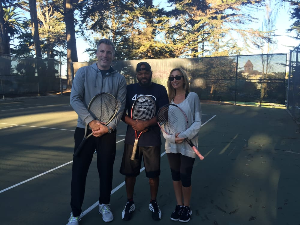 Tennis Lessons By Mcclain - San Francisco, CA, United States. Coach and Adam and Jesse They are awesome doubles players