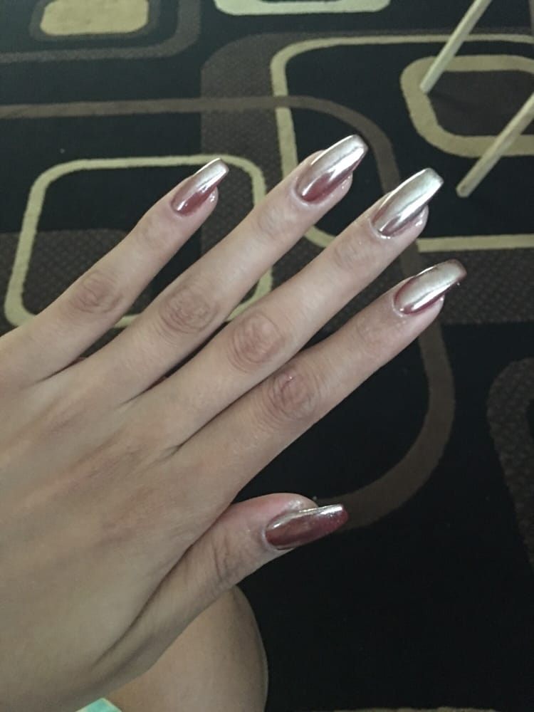 Grey Rose Gold Matte Coffin Nails Nail And Manicure Trends