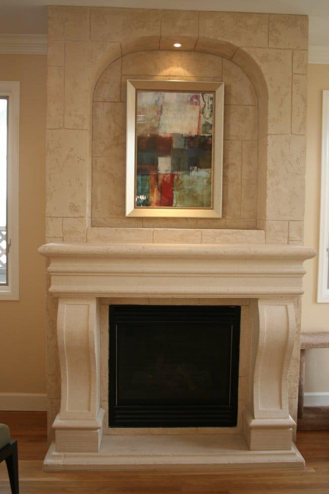 Torino Cast Stone Fireplace Surround Mantel Leg Combo
