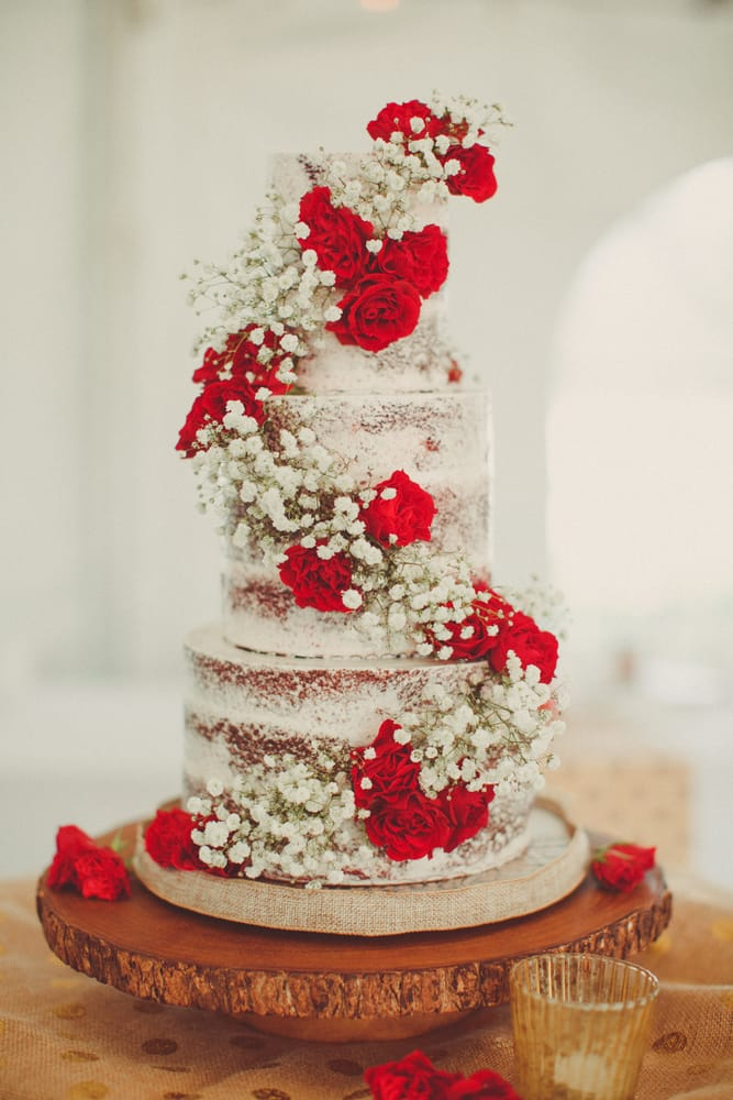 Naked Red Velvet Cake for my Wedding - Yelp