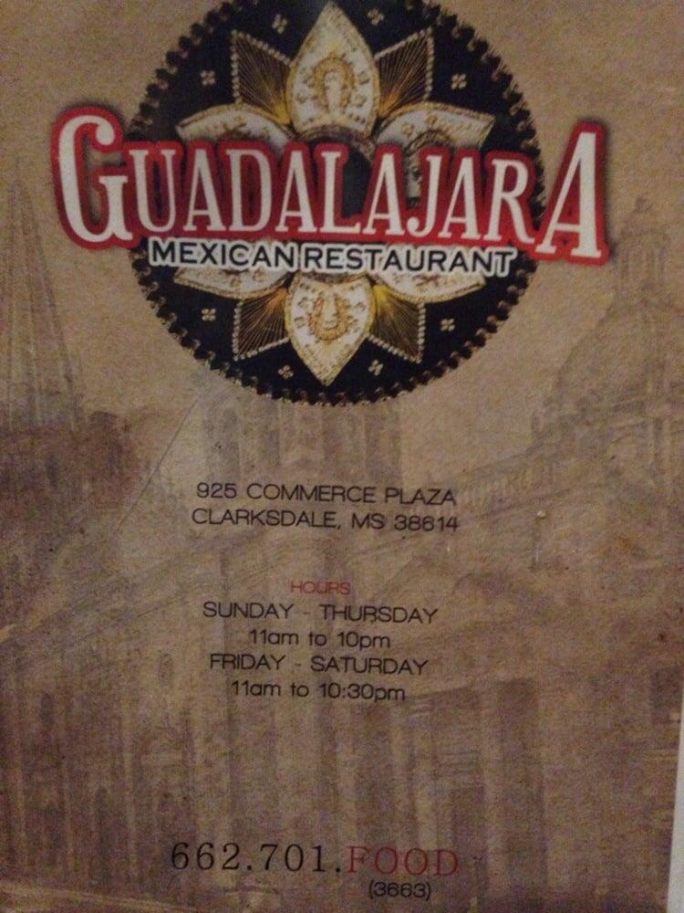 Guadalajara Mexican Restaurant: 925 Commerce Plz, Clarksdale, MS