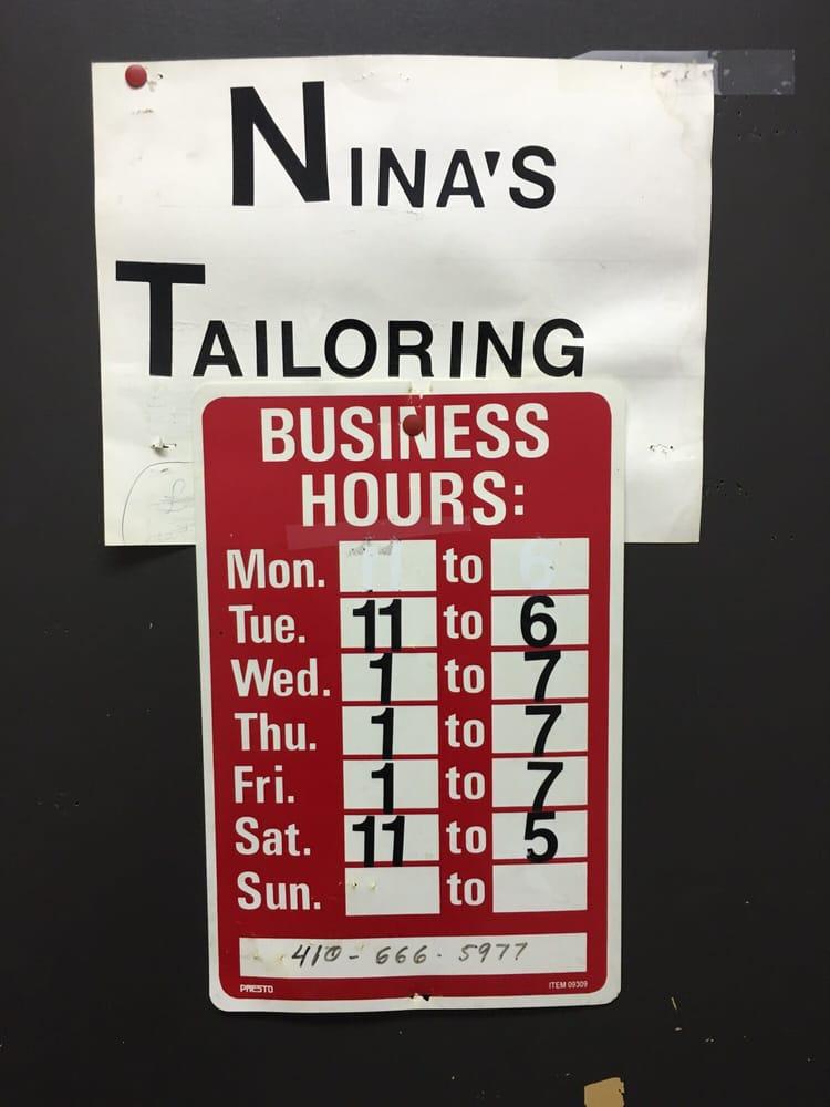 Nina's Tailoring: 9920 York Rd, Cockeysville, MD