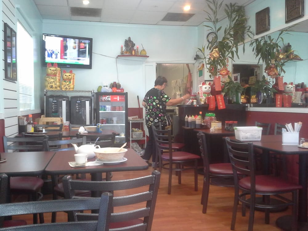 Very Clean For A Chinese Restaurant. Large Screen Flat TV