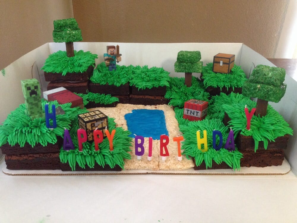 minecraft happy birthday cake on birthday cakes made to order near me