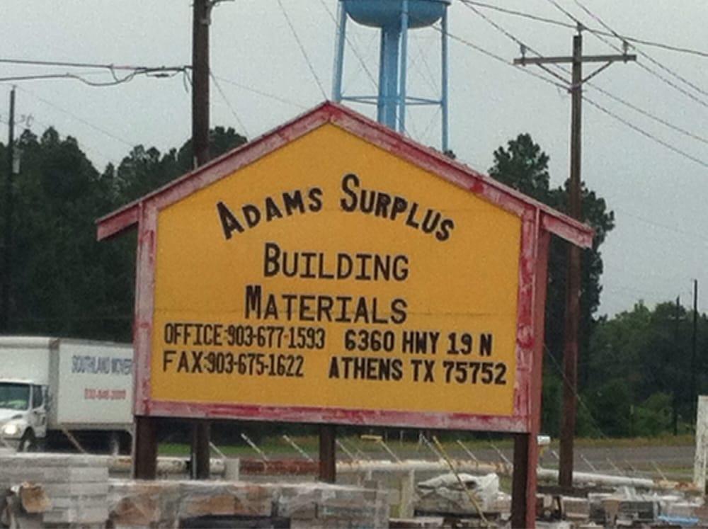 Adams surplus and salvage 27 foto oggettistica per la for Calcare di piani casa texas