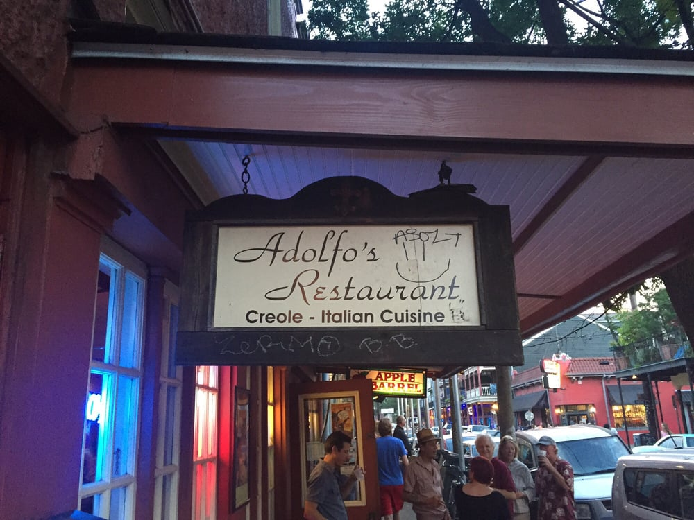Photo of Adolfo's - New Orleans, LA, United States. Sign