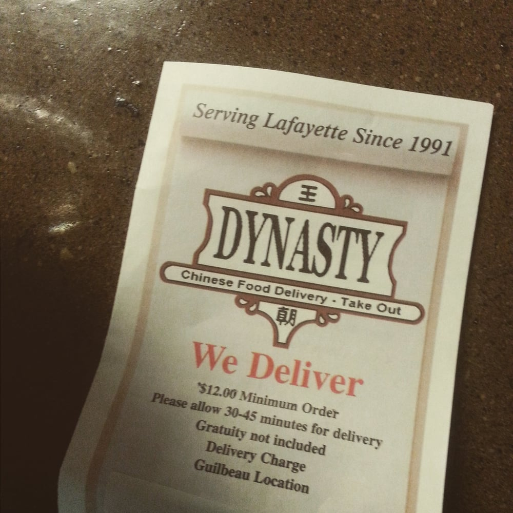 dynasty chinese food delivery  chinese  400 guilbeau rd