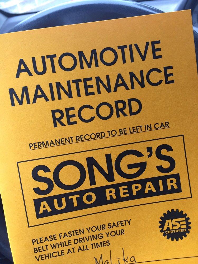 auto repair log book