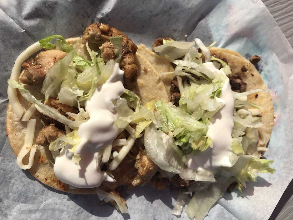 1 chicken and 1 beef American style taco - Yelp
