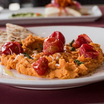 Curried Sweet Potato Hummus Tapas Menu In Terraza Garden
