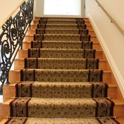 Captivating Curved Staircase Made Photo Of Custom Stair Runners   Bohemia, NY, United  States.