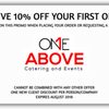One Above Catering & Events: New York, NY