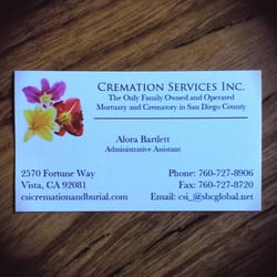 Cremation services 10 photos 10 reviews cremation services photo of cremation services vista ca united states the only family owned solutioingenieria Choice Image
