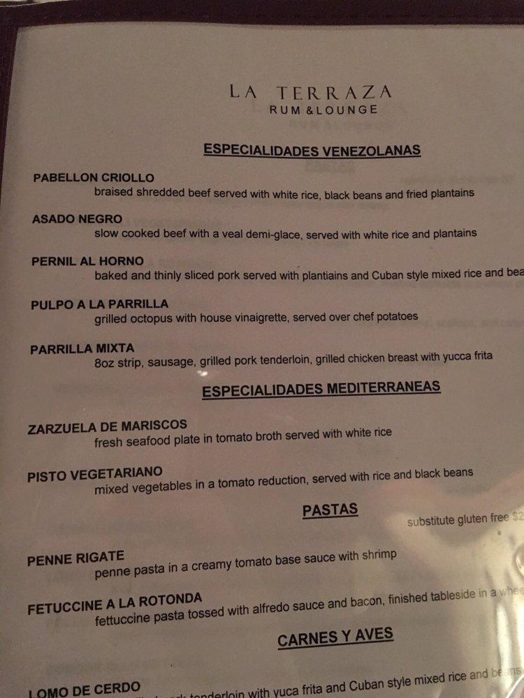 Photos For La Terraza Rum Lounge Menu Yelp