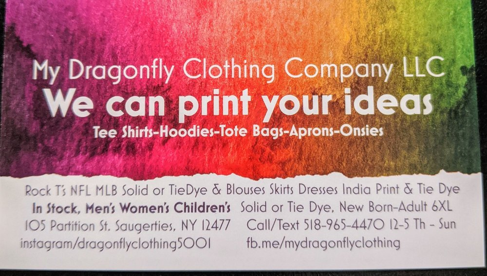 My Dragonfly Clothing Company: 105 Partition St, Saugerties, NY