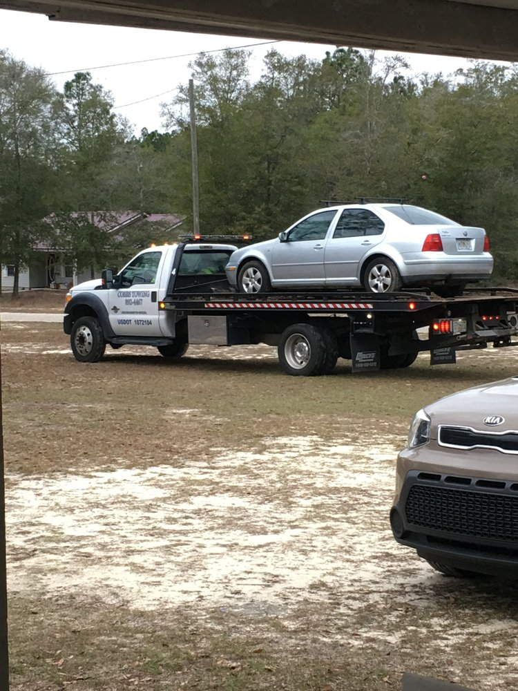 Cobbs Towing has been great and they were on time. They towed my car ...