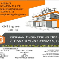 German engineering design and consulting services for Design consultant los angeles