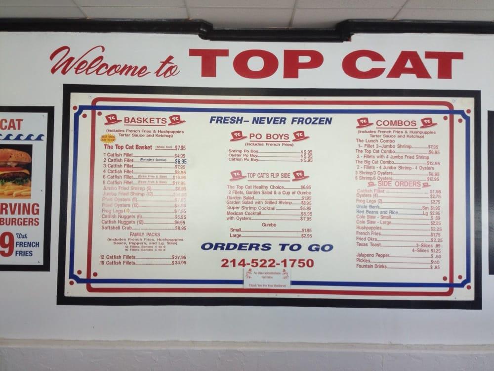 Top Cat Seafood Restaurant Dallas Tx