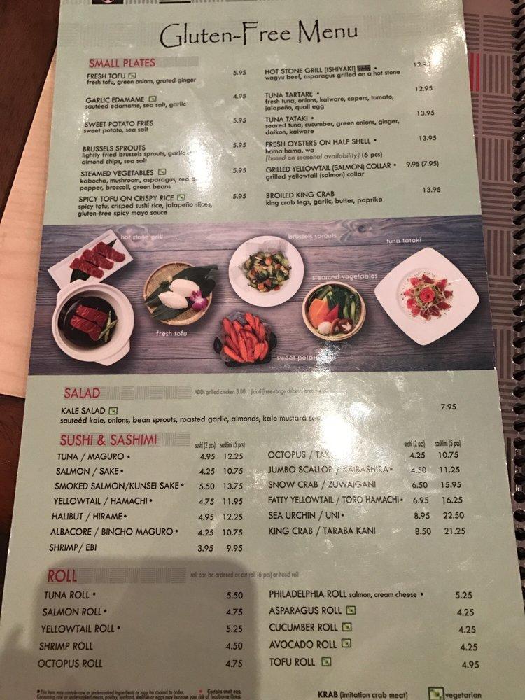 Kabuki gluten free menu - Yelp