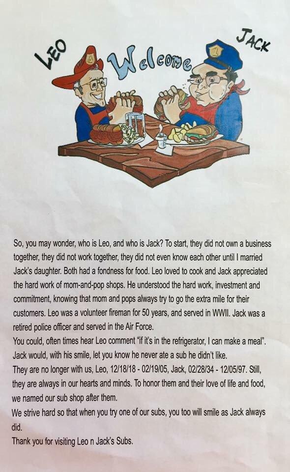 Leo N' Jacks Subs: 1310 W Andrew Johnson Hwy, Morristown, TN