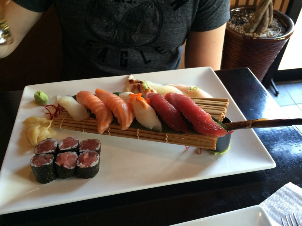 Sushi deluxe- beautiful presentation! - Yelp
