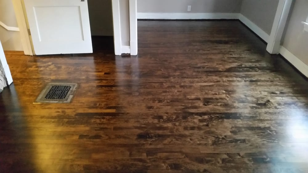 Maple wood with 50 dark walnut 50 provincial yelp for Laminate flooring chicago