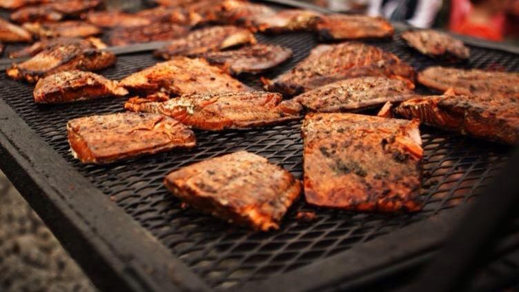 World's Largest Salmon BBQ: 19250 S Harbor Dr, Fort Bragg, CA