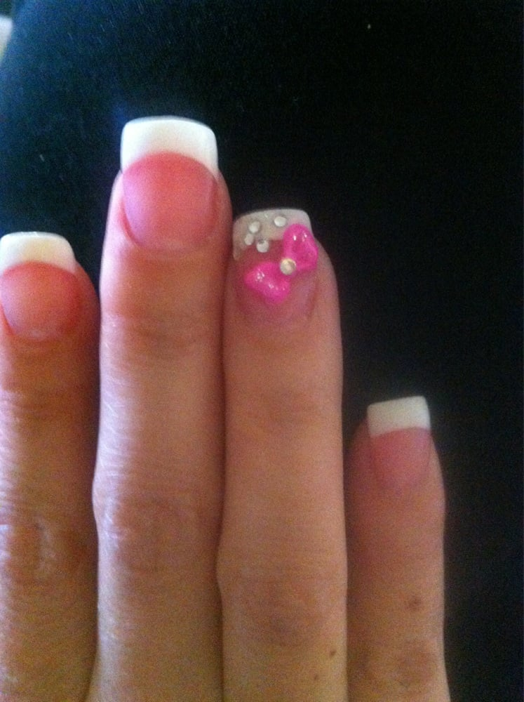 Pink bow! 3D Nail art by Jackie - Yelp