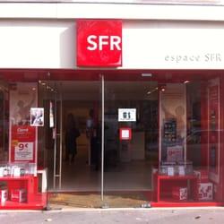 Les régions avec des boutiques SFR
