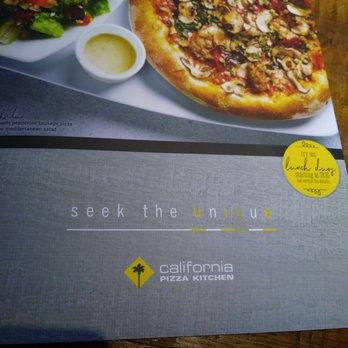 California Pizza Kitchen Torrance Menu