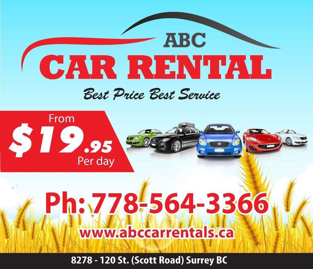 ABC Car Rental - Car Rental - 8278 120 St, Surrey, BC - Phone Number ...