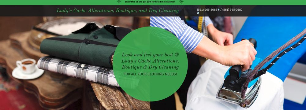 Lady's Cache Alterations, Boutique & Dry Cleaning: 4068 Forest Hill Blvd, Palm Springs, FL