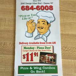 joeys pizza subs 17 reviews pizza 2640 george urban blvd depew ny restaurant reviews. Black Bedroom Furniture Sets. Home Design Ideas