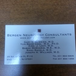 Bergen neurology consultants 12 reviews doctors 25 rockwood pl photo of bergen neurology consultants englewood nj united states business card reheart Choice Image