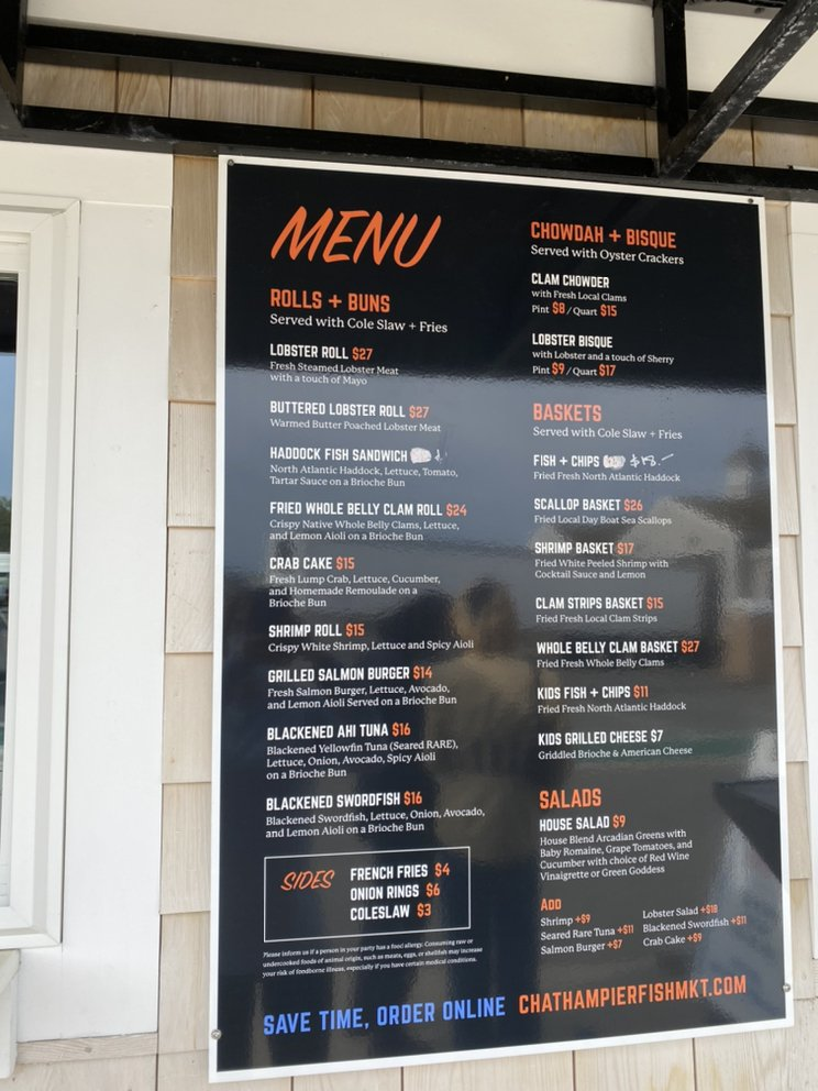 Chatham Pier Fish Market: 45 Barcliff Ave Ext, Chatham, MA