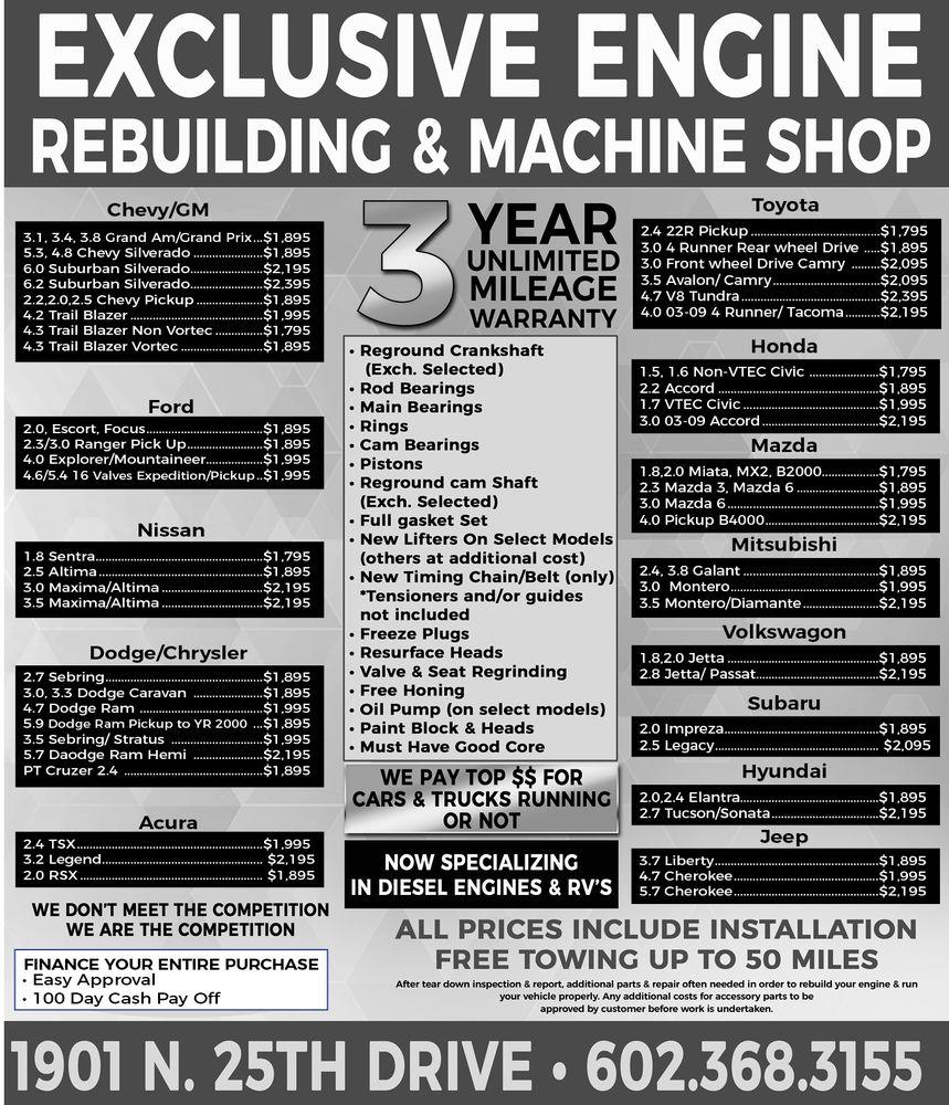 Exclusive Engine Rebuilding & Machine Shop - 24 Photos