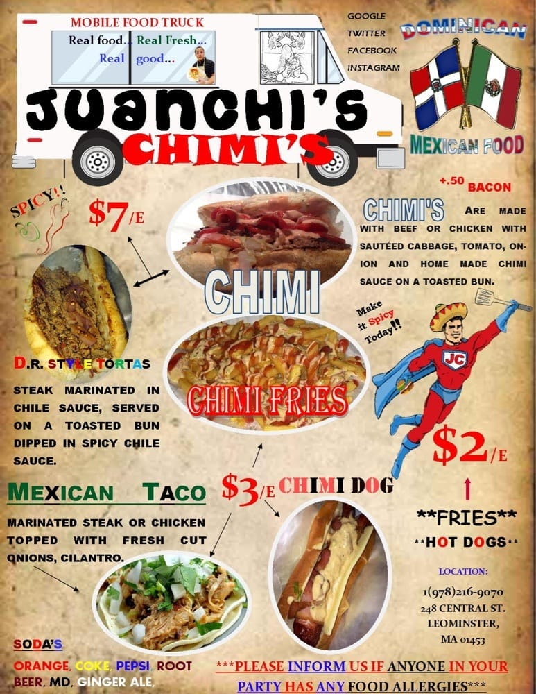 Juanchi's Chimi's: 248 Central St, Leominster, MA