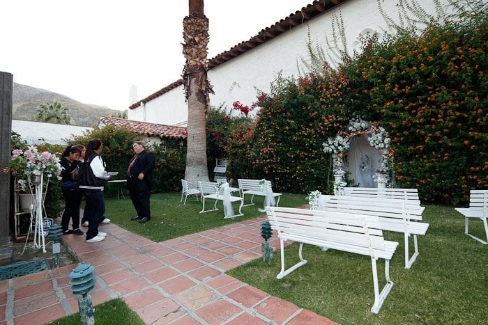 Photo Of Enchanted Garden Wedding Chapel Receptions Palm Springs Ca United States