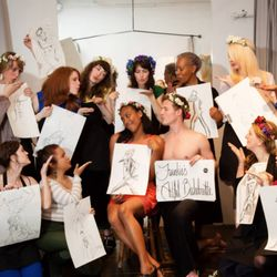 Nude model painting class pics not absolutely